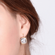 Virginia Clear Swarovski Crystal Earrings - Olivier Laudus Wedding Jewellery