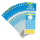 Tooth Brushing Stickers and Chart - Bulk 24 Pack - ideal for pediatric dentists