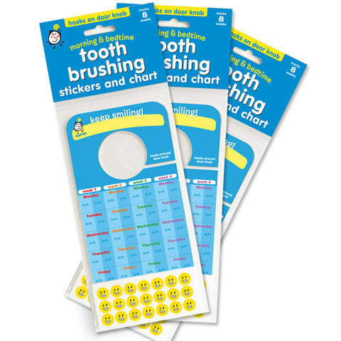 Tooth Brushing Stickers & Chart: VALUE 3 PACK