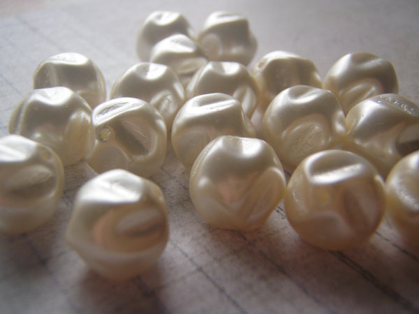 Pearl Beads Premium Quality Antique White Baroque Glass Pearl 12 mm 5 Beads