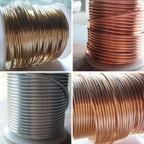 Half Hard Round Solid Bare Wire 14 to 22 Gauge COILED