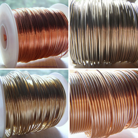 Dead Soft Wire Round Solid Premium Bare Wire 14 to 26 Gauge One Pound Spooled