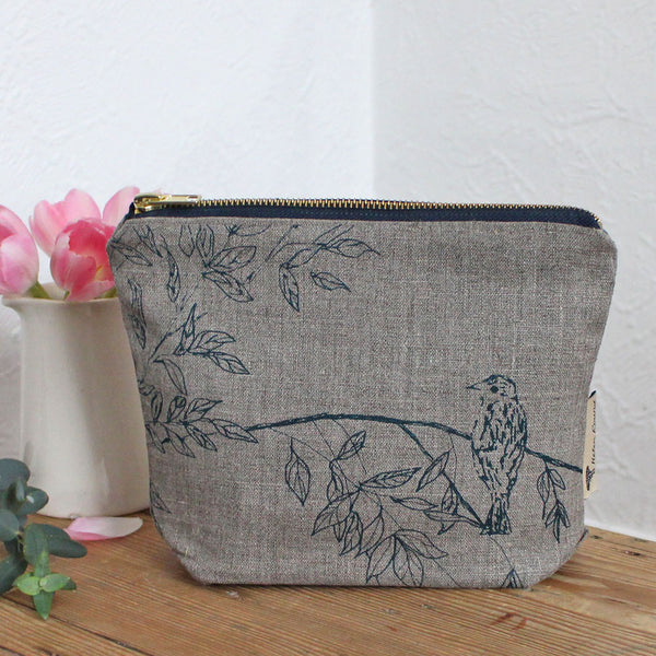 Birdsong washbag by Helen Round