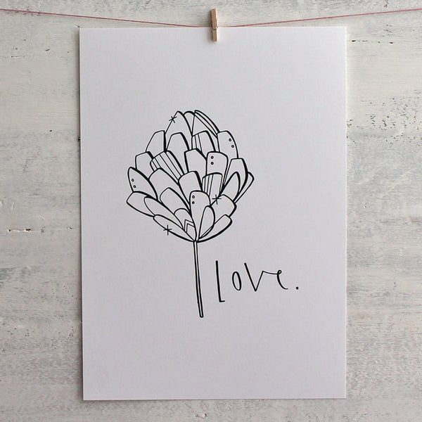 Love print by Cheryl Rawlings at Mimosa Street