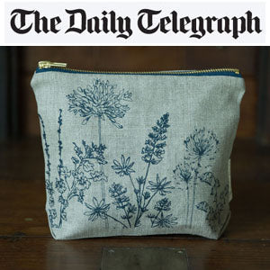 Country garden washbag by Helen Round at Mimosa Street