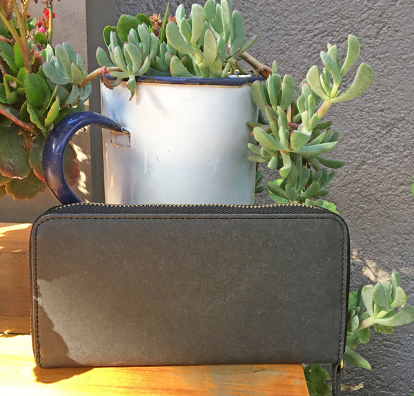 Zip around eco purse in black, made from recycled paper - Maguire's at Mimosa Street
