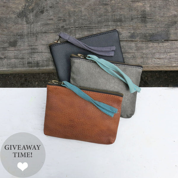 Giveaway on Instagram - Vegan Leather Purses by Aura Que at Mimosa Street