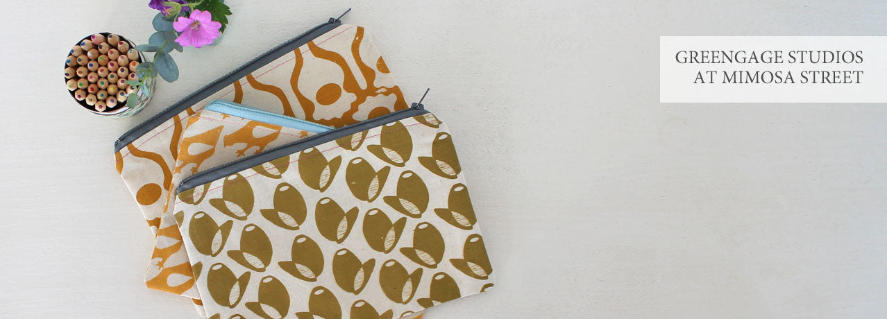 Greengage Studios screen-printed products at Mimosa Street