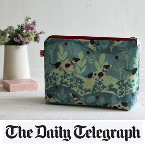 Hector oilcloth washbag by Susie Faulks, Mimosa Street in the Telegraph
