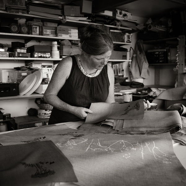 Helen Round at work in her studio