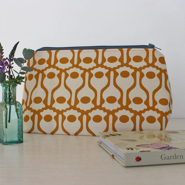 Screen-printed pouch by Greengage Studios at Mimosa Street