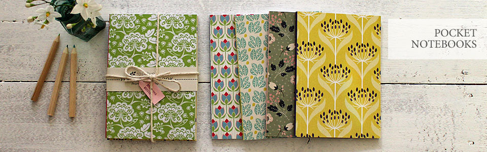 Rosehip notebooks, vintage-style pocket notebooks at Mimosa Street