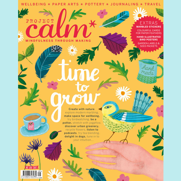 Project Calm magazine cover featuring artwork by Matilda Smith