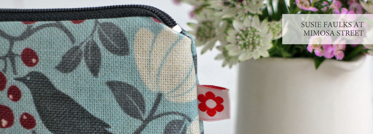 Susie Faulks oilcloth purses and washbags