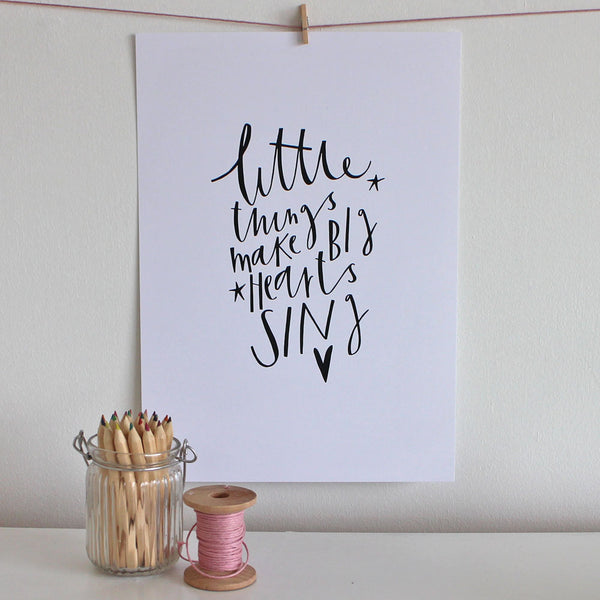 The Little Things print by Cheryl Rawlings