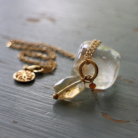 Ella necklace with citrine