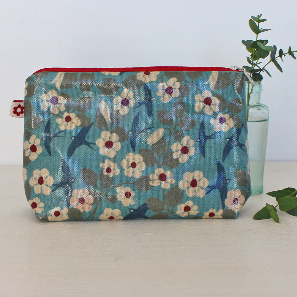 Swifts oilcloth washbag by Susie Faulks at Mimosa Street