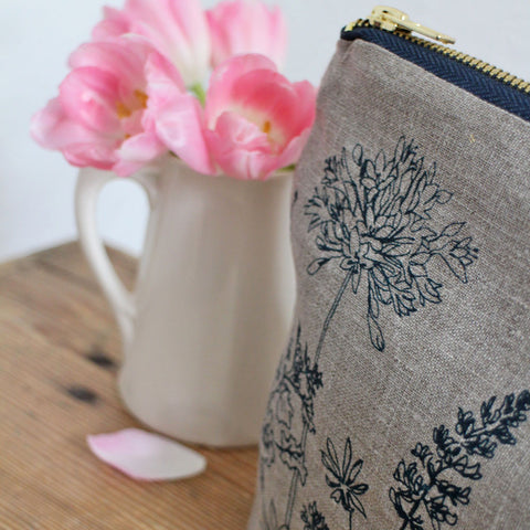 Country botanical washbag by Helen Round
