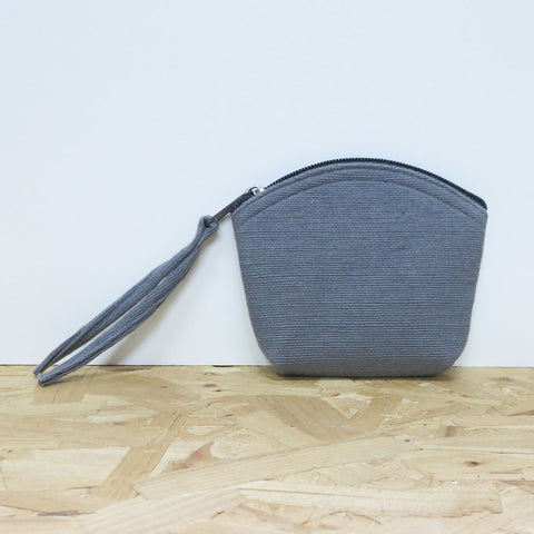 Diuso vegan coin purse in grey by Aura Que at Mimosa Street