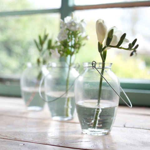 Floella recycled glass vase