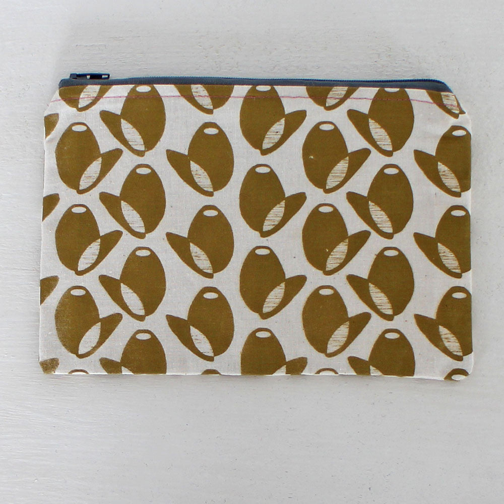Olive pouch by Greengage Studios
