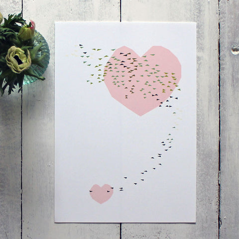 Heart swoop - exclusive print