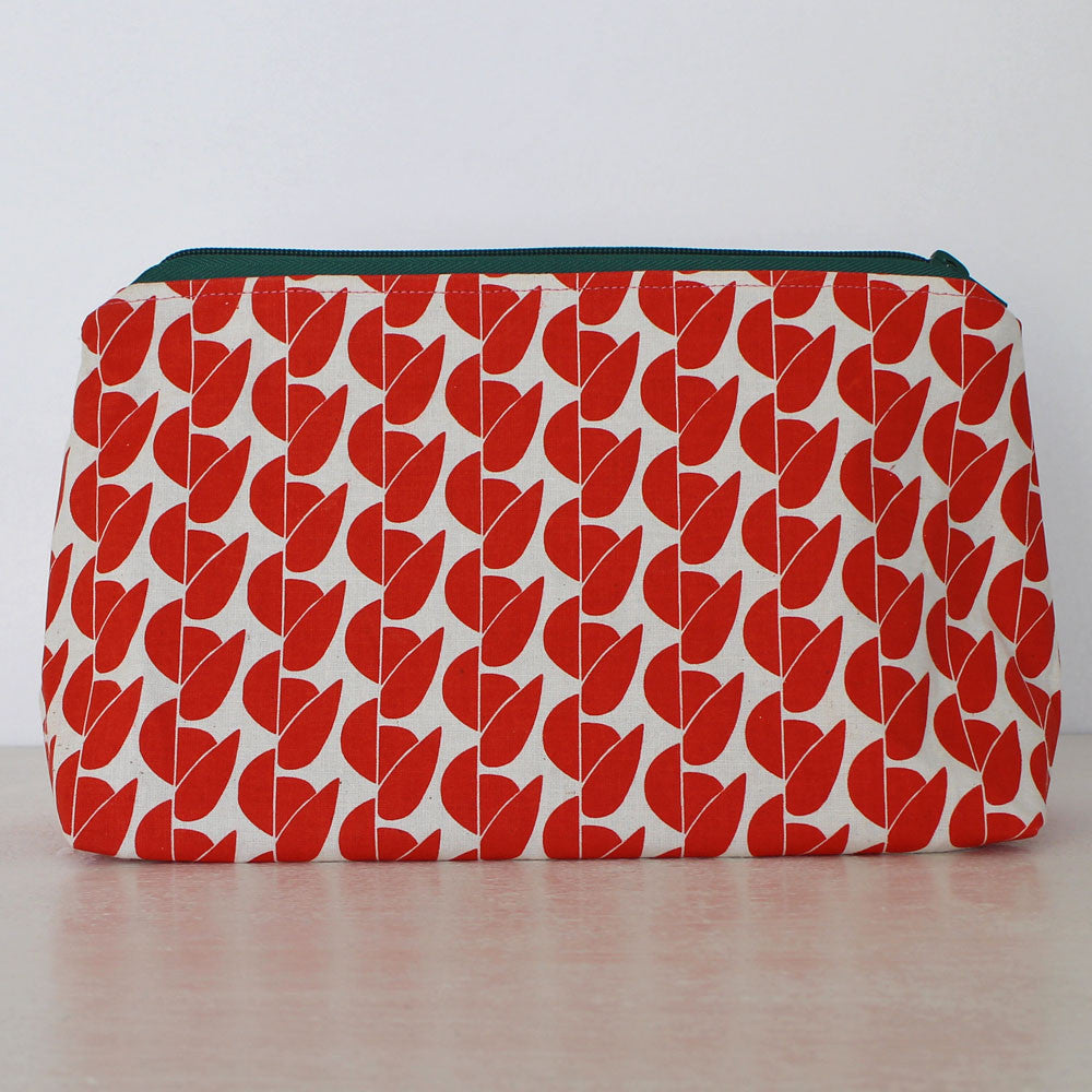 Large multi-purpose Greengage print pouch by Greengage Studios