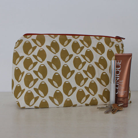 Large olive pouch by Greengage Studios