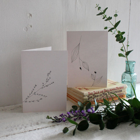 Seaweed paper notecard set