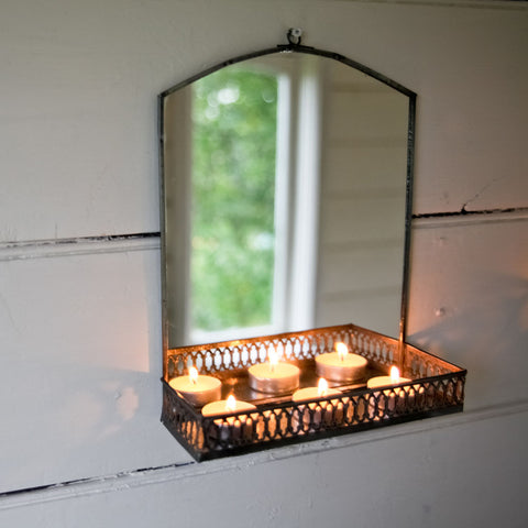 Indian mirror with shelf