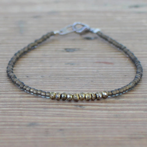 Imogen bracelet with gold pyrite - exclusive