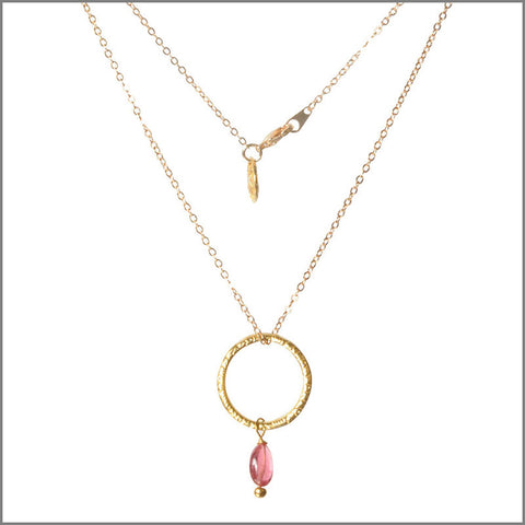 Rosa tourmaline necklace