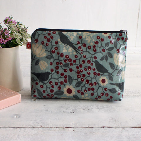 Rowan bird oilcloth washbag