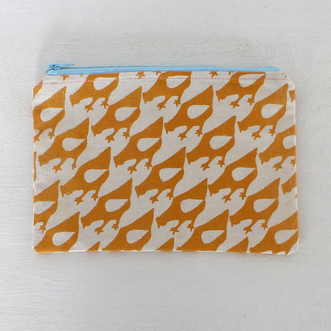 Screen-printed Little chicken pouch