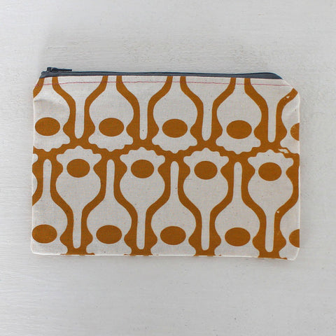 Screen-printed Poppy pouch