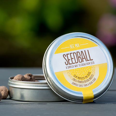Bee mix seedball tin