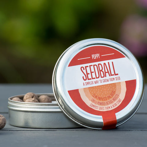 Seedball tin, Poppy