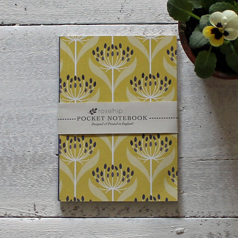 Yellow seedhead pocket notebook