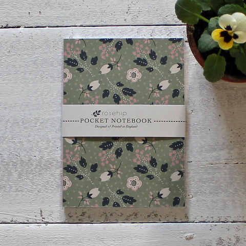 Snowberry pocket notebook
