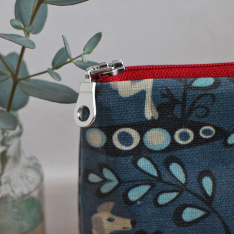 Whippet oilcloth washbag by Susie Faulks