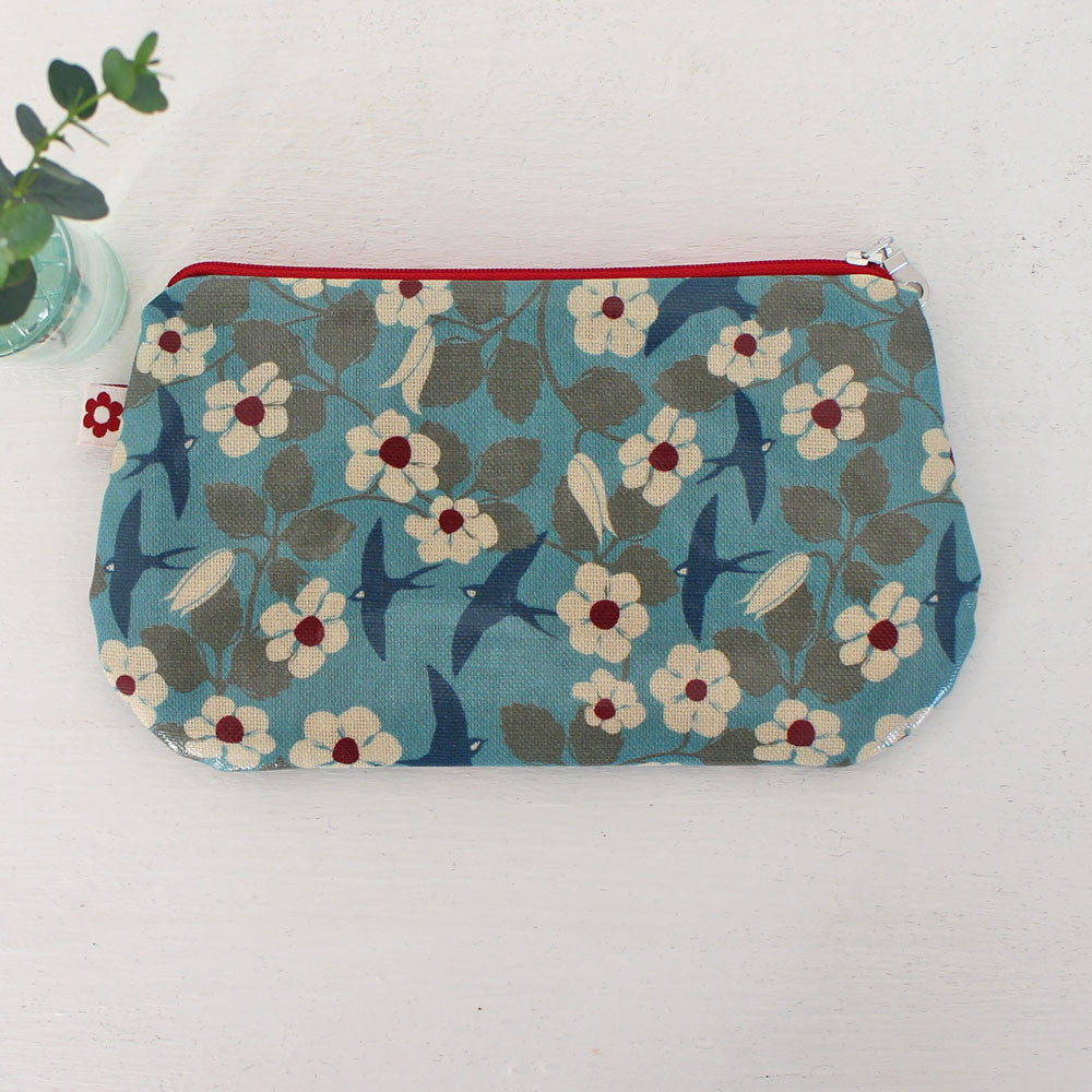 Swifts oilcloth purse, vegan purses by Susie Faulks