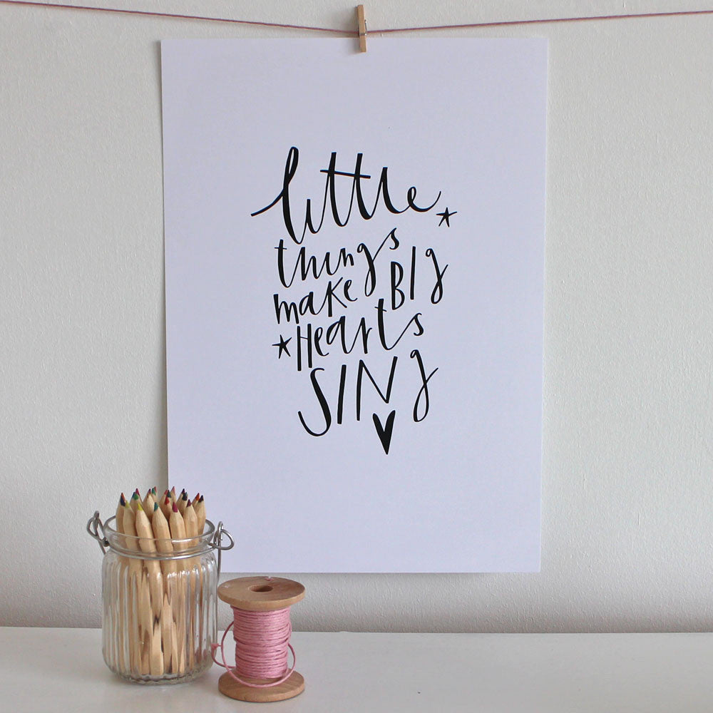 The Little Things print