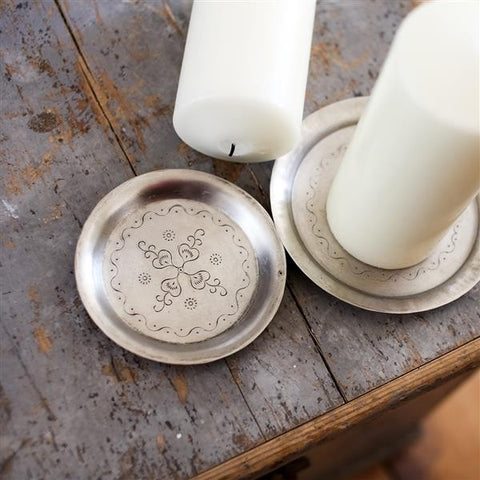Vashti hand-etched dish - small