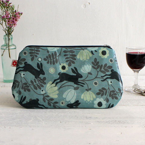 Wild hare clutch purse - cool blue