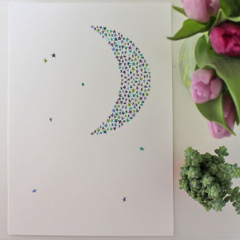 Starry moon - exclusive print
