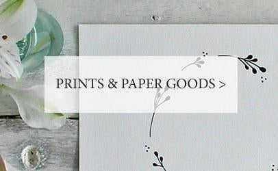Prints and paper goods at Mimosa Street