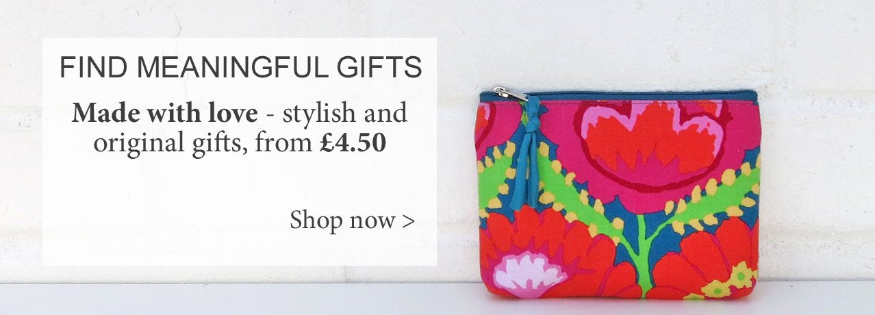 Shop for gifts at Mimosa Street - pictured Kaffe Fassett purse