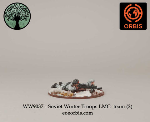 WW9037 - Soviet Winter Troops LMG  team (2)