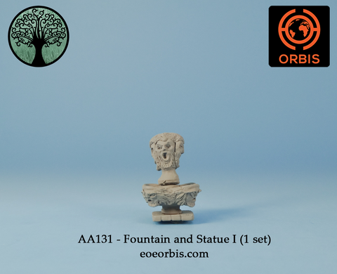 AA131 - Fountain and Statue I (1 set)