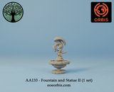 AA133 - Fountain and Statue II (1 set)